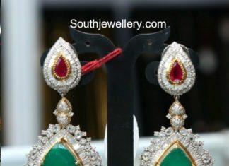 diamond emerald earrings
