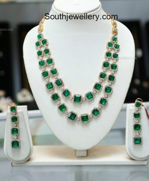 Two Step Diamond Emerald Haram
