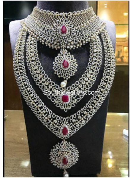 Diamond Jewellery Set by P Satyanarayan & Sons Jewellers