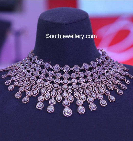 Latest Diamond Necklace Collection by Tanishq - Jewellery Designs