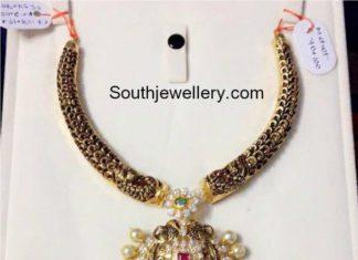 kanthi necklace cz pendant