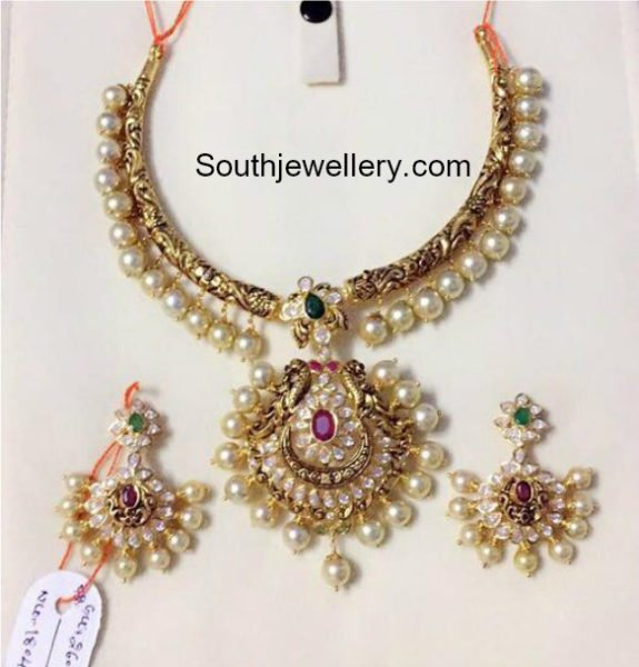 antique kanthi necklace