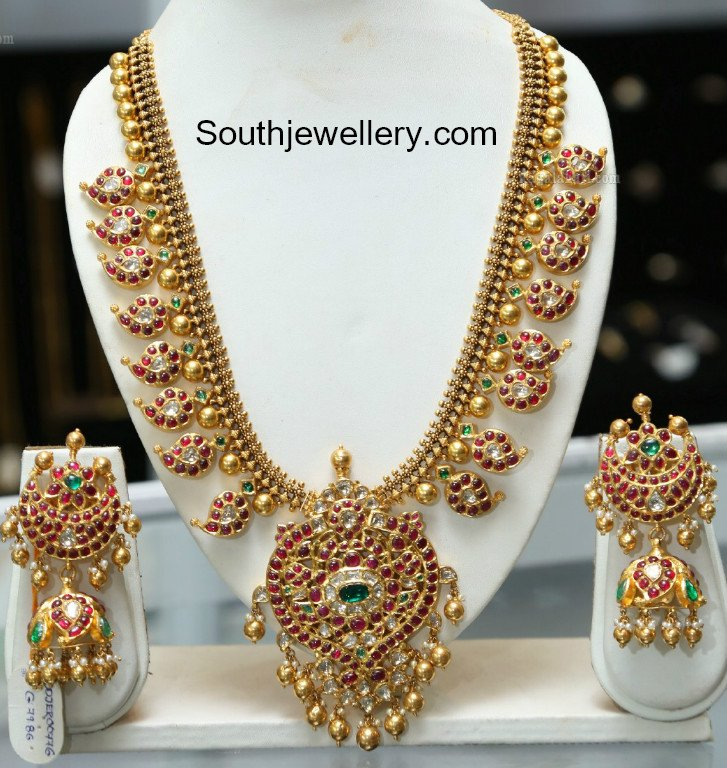 Kundan Mango Mala And Jhumkas Jewellery Designs