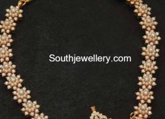 pearls haram peacock pendant