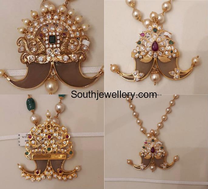 Cz Puligoru Pendants Jewellery Designs