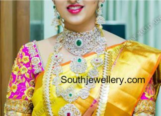 telugu bride diamond jewellery