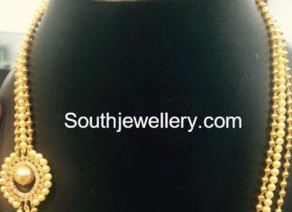 gold balls and south sea pearls mala