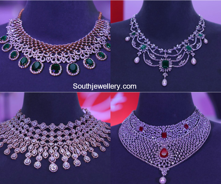 Latest Diamond Necklace Collection by Tanishq - Jewellery