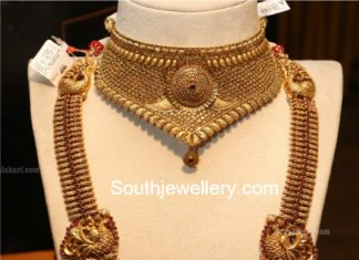 antique gold choker and haram