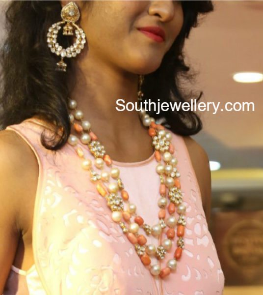 South Sea Pearls and Coral Beads Mala