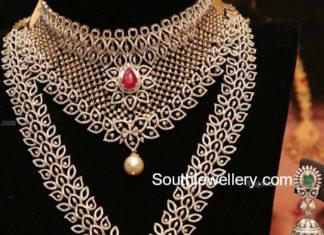diamond necklace and diamond haram