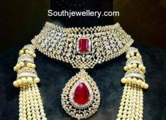 diamond choker and south sea pearls mala
