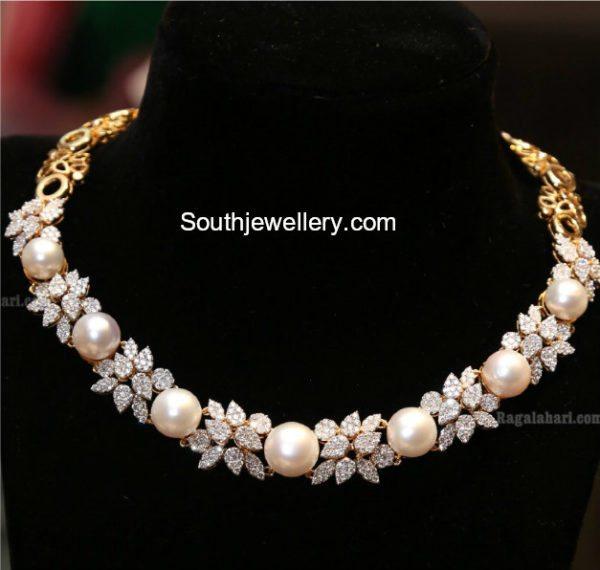 Diamond South Sea Pearl Necklace