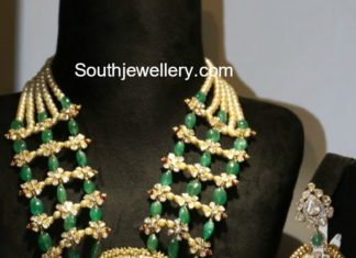 emeralds polki diamond necklace