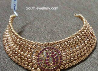 antique gold choker