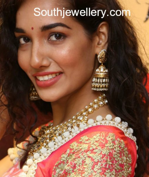 Lakshmi Guttapusalu Necklace and Jhumkas