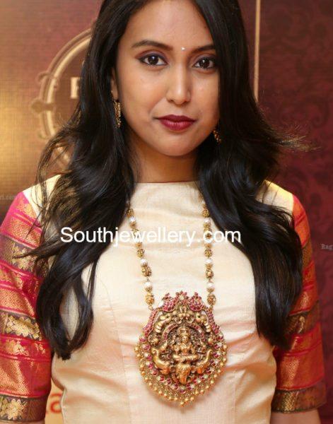 Nakshi Balls Mala with Lakshmi Pendant