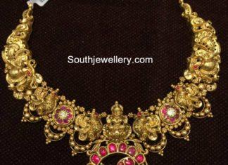 lakshmi gold necklace