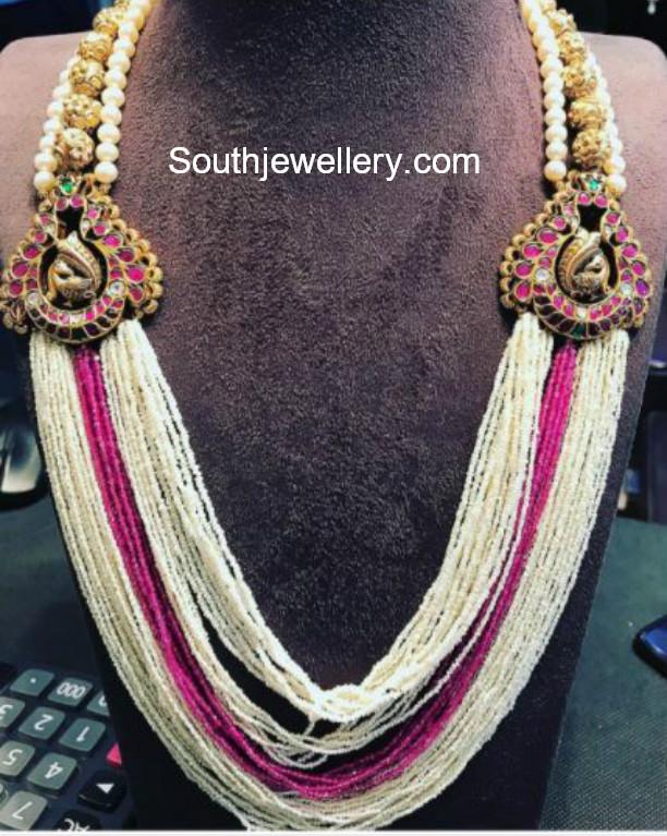 8258d065dabd2 Multi-strand Pearls Mala - Jewellery Designs