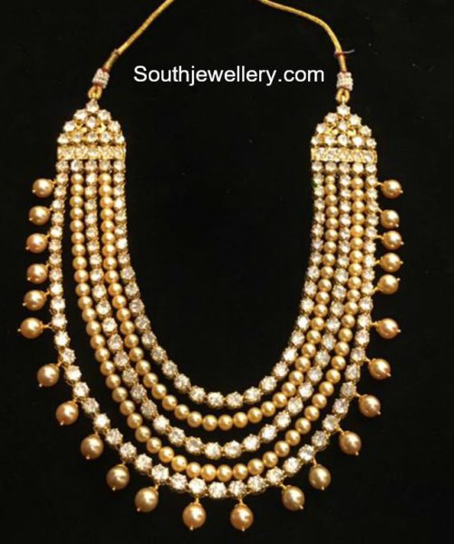 polki diamond pearls haram