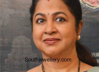 radhika saratkumar black beads mangalsutra