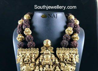 rudraksh mala with heavy nakshi pendant