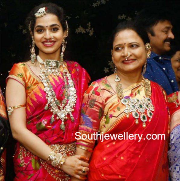 Vasundhara and Ayushi in Polki Jewellery