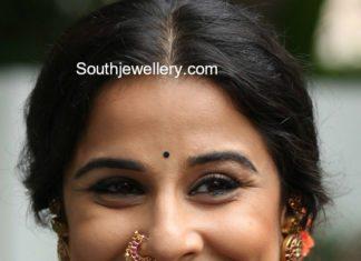 vidya balan kundan jhumkas and nose ring