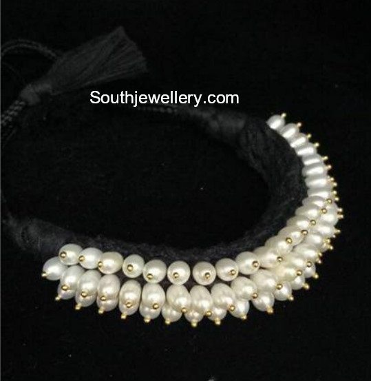 Black Dori Necklace with Pearls