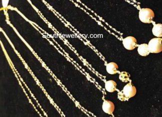 black beads mangalsutra chains