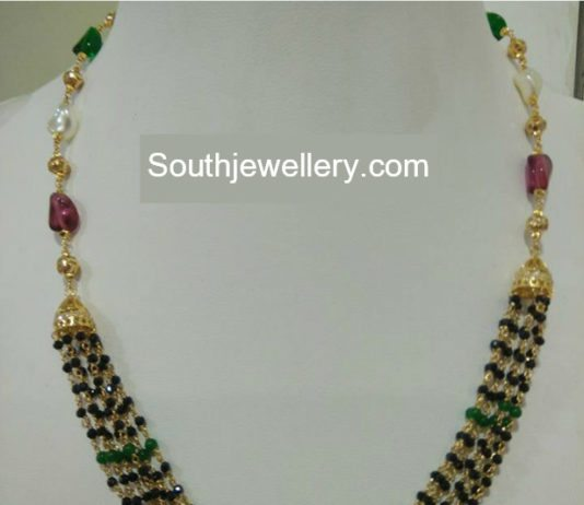 latest designs beads mala jewellery