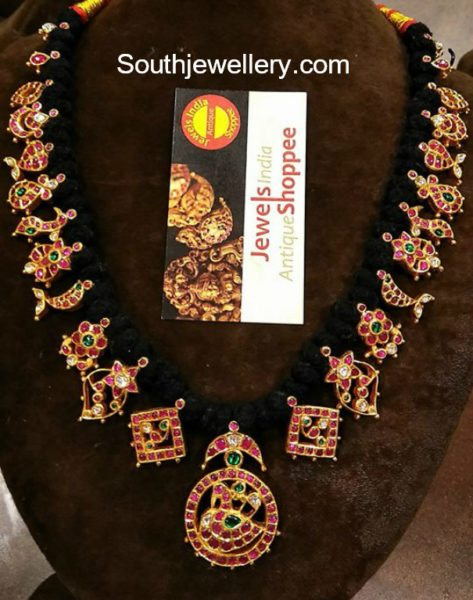 Black Dori Kundan Necklace