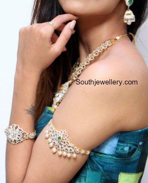 Diamond Jewellery Set by Manepally