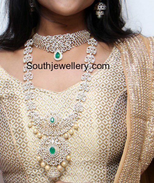 Diamond Choker, Haram and Vaddanam set
