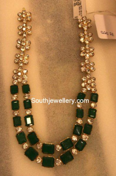 emeralds and moissanites mala