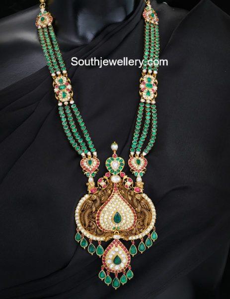 Kundan Haram with Nakshi Pendant