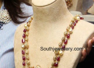 pearls and beads mala nakshi pendant