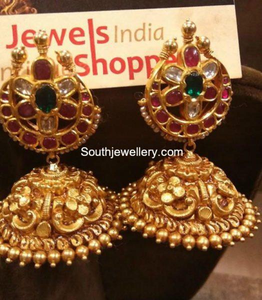 Antique Gold Jhumkas