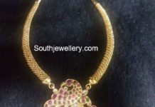 gold necklace peacock pendant