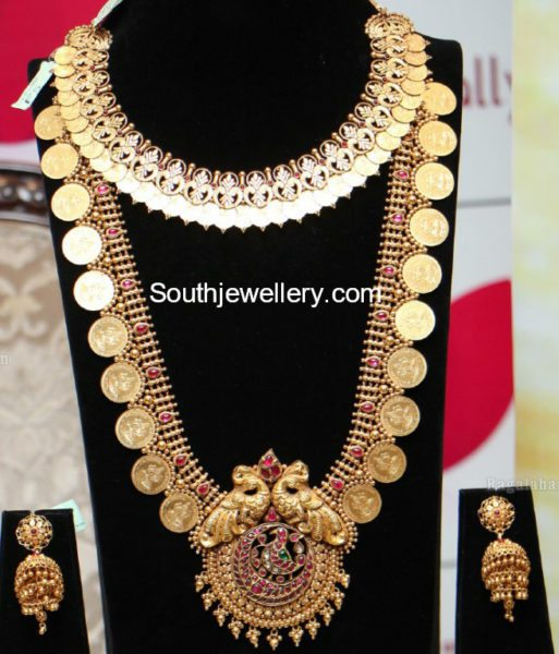 Kasu Necklace, Haram and Stones Vaddanam