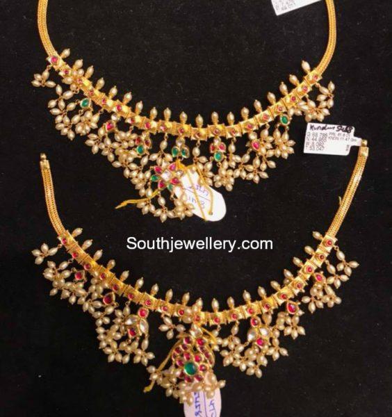 Light Weight Guttapusalu Necklace Models