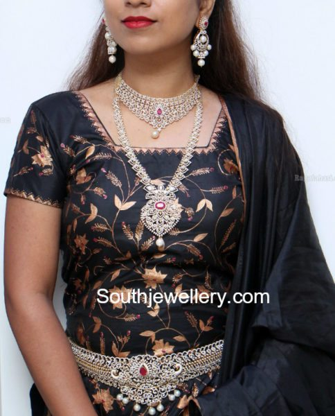 Diamond Jewellery Set by Manepally