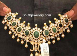 moissanites emerald necklace