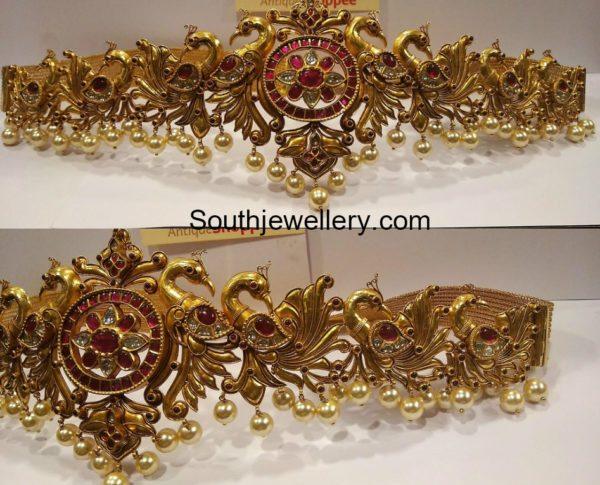 peacock gold vaddanam