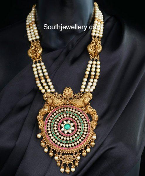 south sea pearls mala big stones pendant