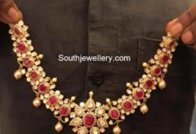 ruby moissanites necklace