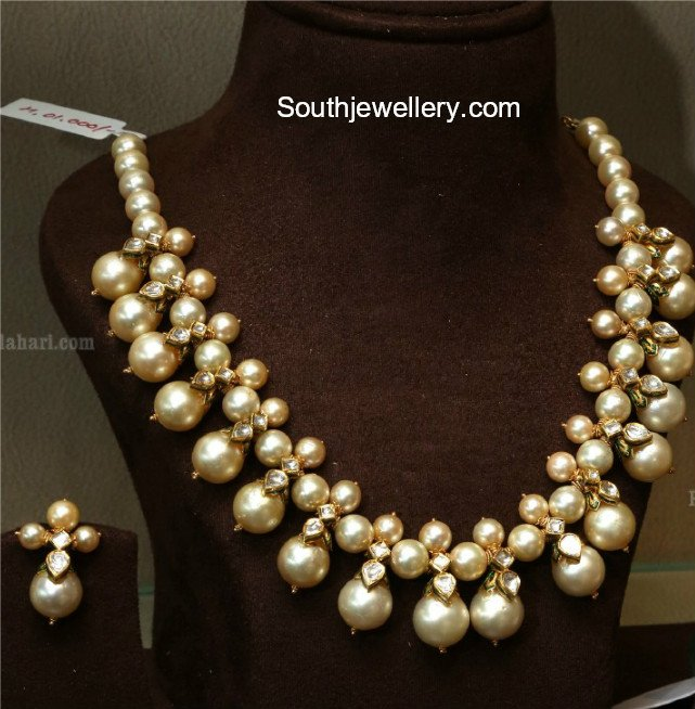 South Sea Pearls Necklace Indian Jewellery Designs