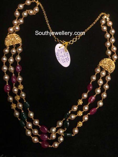 pearl and beads mala