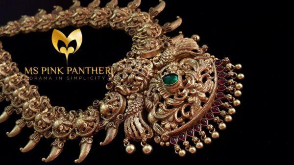 Gold Plated Silver Nakshi Haram
