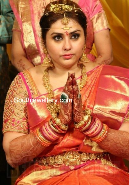 Actress Namithas Wedding Jewellery